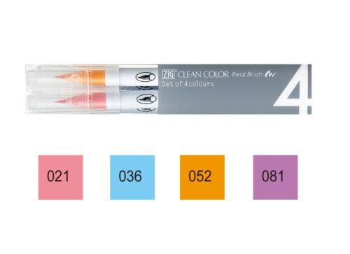 Kuretake Zig limpio Color Real Pincel pluma conjunto elegir 12 tipo RB-6000AT//4VA
