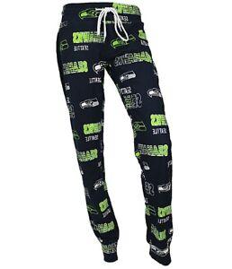 Seattle-Seahawks-NFL-Concepts-Sports-Sweep-Women-039-s-Pajama-Pants-Size-Medium