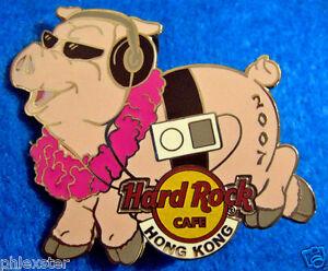 Hong-Kong-Nuovo-Anno-Maiale-Auricolari-Rosa-Lei-Sole-2007-Rigida-Rock-Cafe-Perno