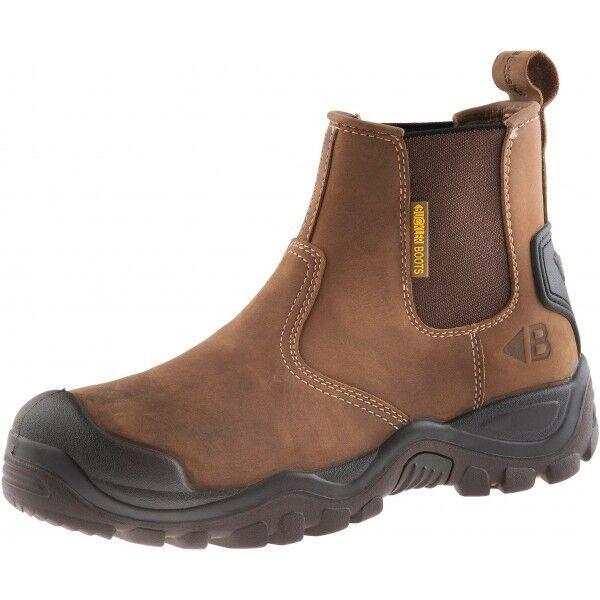 Buckler Bsh009br Buckshot Dark Brown Lace Work Safety BOOTS UK Sizes 6 13 UK 10 (eu44)