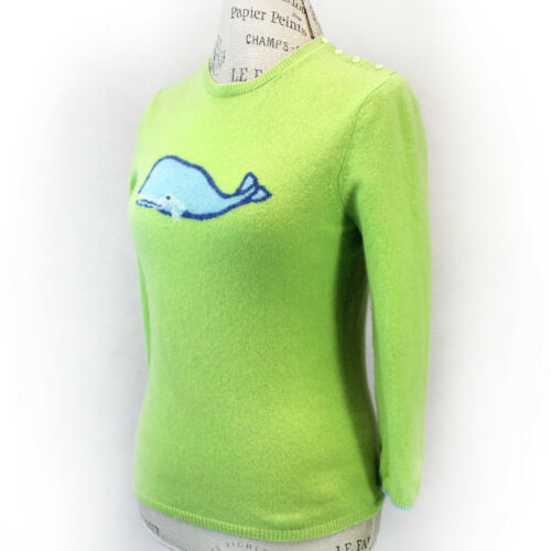 J.Crew 100% Cashmere Knit Crew Neck Lime-Green Wha