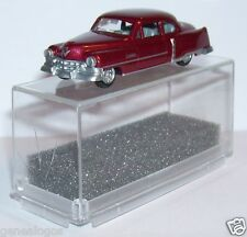 MICRO PRALINE HO 1/87 CADILLAC 54 CADDY LIMOUSINE ROUGE FONCE METAL IN BOX