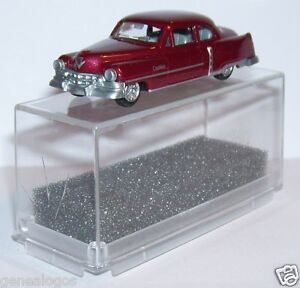 MICRO-PRALINE-HO-1-87-CADILLAC-54-CADDY-LIMOUSINE-ROUGE-FONCE-METAL-IN-BOX