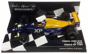 Minichamps-Tyrrell-Ford-018-GP-1989-frances-Jean-Alesi-escala-1-43