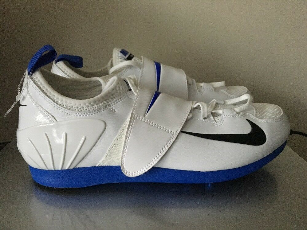 NEW Nike Men's Sz 11.5 Shoes Zoom PV II Pole Vault Spikes White Blue 317404-100