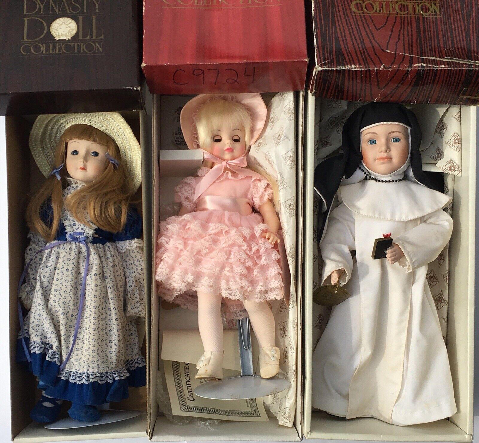 (3) colección muñeca de dinastía Muñecas Miss Julio + Lillian + Monja Con Cajas Originales