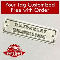 Chevrolet / Chevy Raised Letter / Number Serial Plate Tag