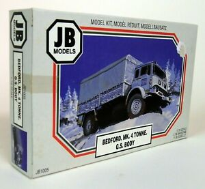 JB-Models-1-76-Scale-JB1005-Bedford-MK-4-Tonne-G-S-Body-Plastic-Military-Kit