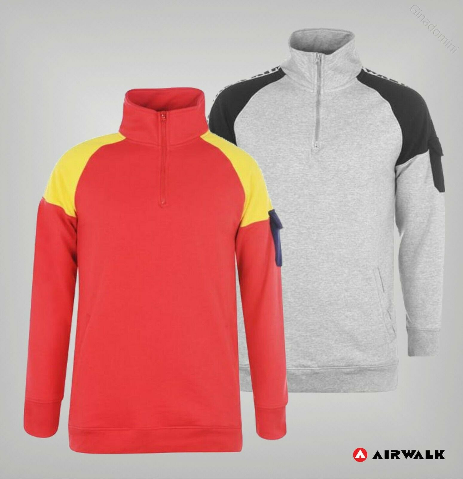 Mens Airwalk Over The Head Long Sleeves Woven Sweatshirt Sizes from S to XL