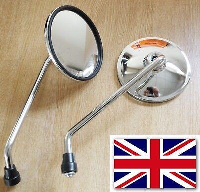 Miroir Set avec filetage m10 pour Royal Enfield Bullet 500 Standard/' 93-08