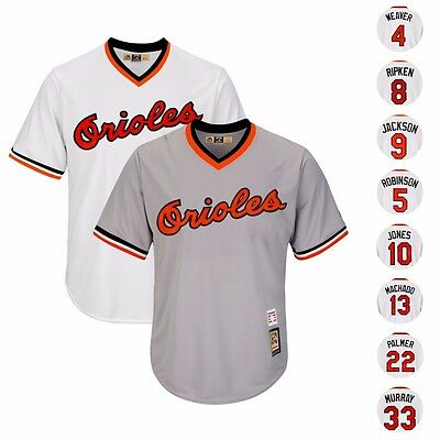1982 BALTIMORE ORIOLES COOPERSTOWN HOME & ROAD COOL BASE JERSEY BY MAJESTIC MEN