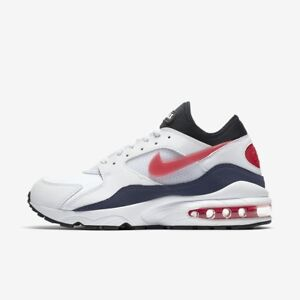 the latest 87391 5fbeb Image is loading NIKE-AIR-MAX-93-OG-WHITE-HABANERO-RED-