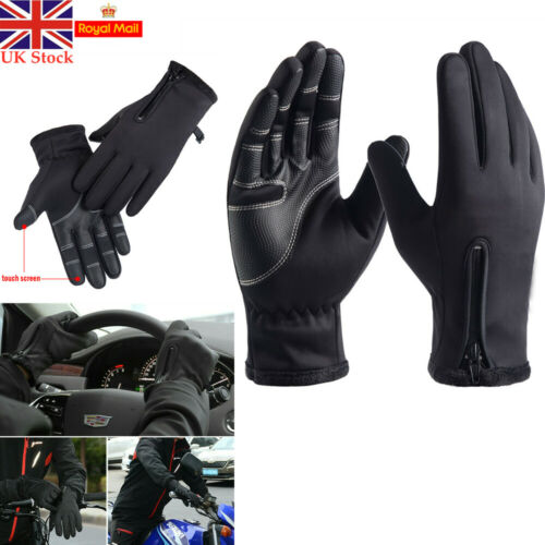 Mens Touchscreen Waterproof Gloves Mittens Thermal Warm Windproof Driving Mitts