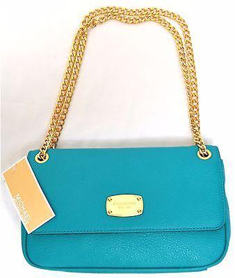 MICHAEL Michael Kors Jet Set Chain Small Flap  Shoulder Leather Handbag Authent