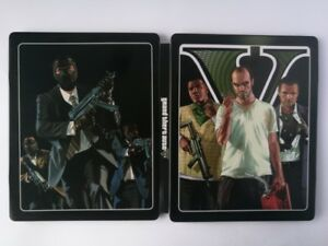 Details about New Grand Theft Auto V GTA 5 custom Iron disc box case  steelbook for PS4 Xbox