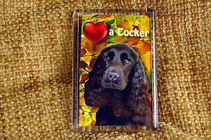 Cocker Spaniel Black Dog Gift Dog Fridge Magnet 77x51mm Birthday Mothers Day