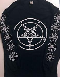 PENTAGRAM-Longsleeve-T-shirt-Satanic-Clothing-Satan-witchcraft-EVIL-GIFT-S-XL