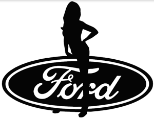 Sexy-Girl-on-Ford-Logo-Decal-Sticker-Vinyl-Car-Truck-Laptop-Window-Glass