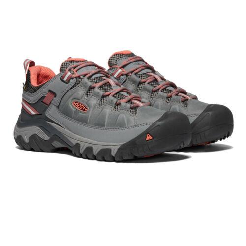 Keen Damen Targhee III Wasserdicht Wanderschuhe Trekking Outdoor Schuhe Grau