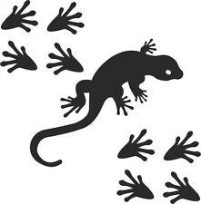 Gecko +8 Huellas Coche Calcomanía Vinilo, Deriva Pegatina, Jdm, Euro, Dub Lagarto Tribal