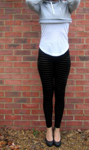 LONG LENGTH Leggings Velvet Christmas Black Wine SIZES 8 10 12 14 16 18 20 Tall