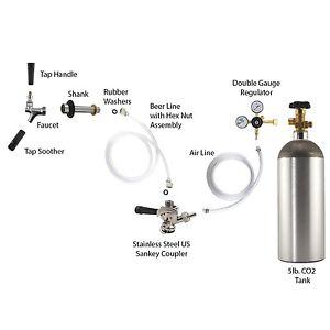 Keg Fridge Conversion Kit Kegerator Conversion Kit - US Sankey Coupler w/ 5lb CO2 ...