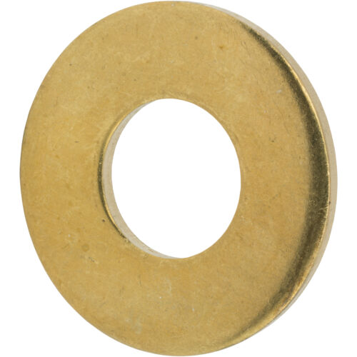 """1//4/"""" Solid Brass Flat Washers Commercial Standard Grade 360 Qty 100"""