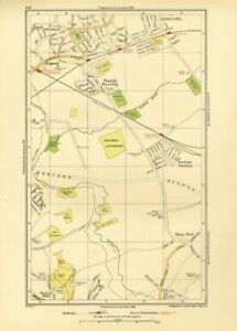 Dutiful Northolt Europe Maps Ruislip Ruislip Manor Hillingdon Yeading Greenford Eastcote 1933 Map Maps, Atlases & Globes