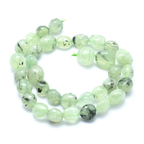 25~35pcs Natural Prehnite Nuggets Beads Mini Smooth Stone Loose Spacer 10~16mm