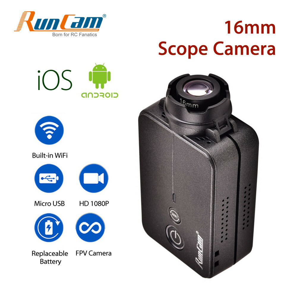 RunCam FPV Camera HD 1080P WiFi Scope Action Video Cam 16mm 4MP Fr RC Quadcopter