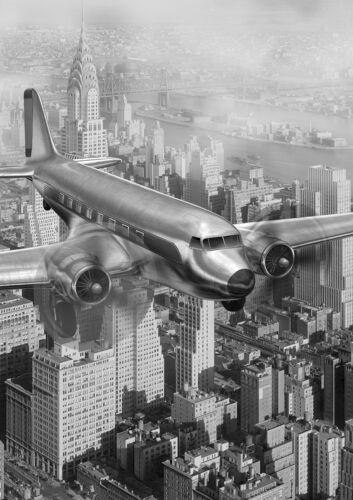 Verre Splashback Cuisine /& Salle De Bain Panel toute taille ancienne vintage avion 0354