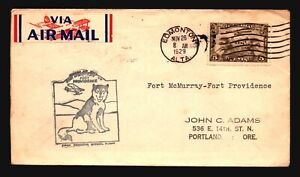 Canada-1929-FFC-Ft-McMurray-to-Ft-Providence-Z16666