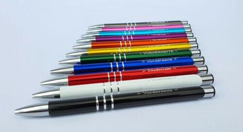 Name Metall Kugelschreiber mit Ihrer Wunschgravur Text Werbeartikel Logo