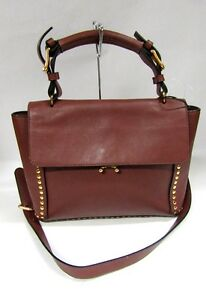 Image Is Loading New Marni Trunk Bag Brown Medium Leather Flap
