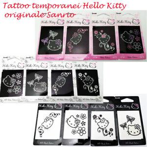4-TATUAGGIO-corpo-temporanei-Hello-Kitty-3D-originale-Sanrio-ADESIVI-TATTOO