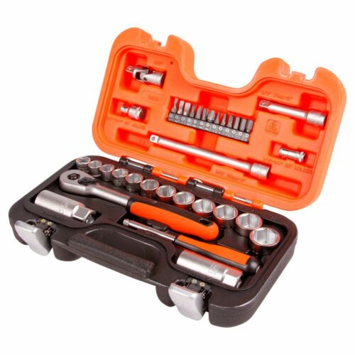 Bahco 34Pc Socket & Mechanical Set in Metric & Imperial Sockets with Carry Case