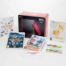 Nintendo Wii Mini Red Console 4 PLAYER Bundle 34 games=Sport+Mario Sonic Olympic