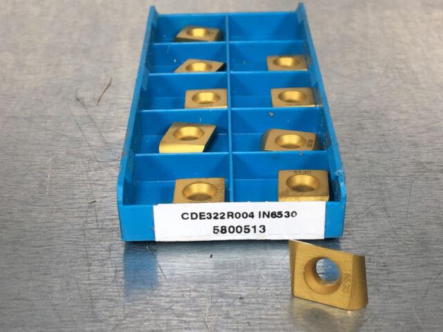10 pcs NEW INGERSOLL CDE 323 R005 GRADE IN10K CARBIDE INSERT 5800271 TOOLMAKER