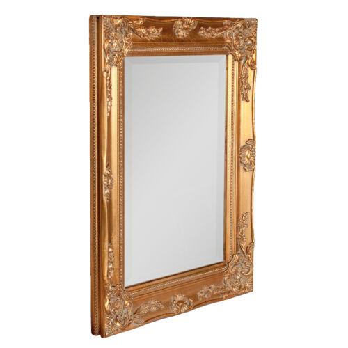Spiegel LEONIE Gold Antik 47x37cm Barock Badspiegel Flurspiegel Wandspiegel