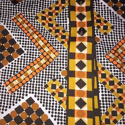 Vintage Alex Colman Emerald Geometric Print Blouse