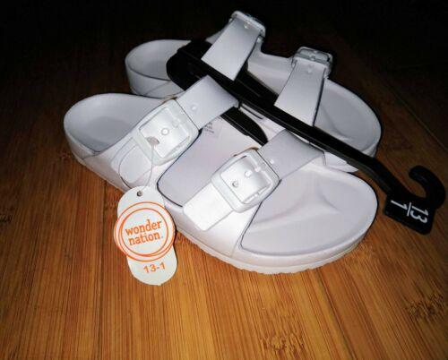 Wonder Nation Sandal Kids 2 Buckle Shoe Water Beach Shower Sandal 4 5