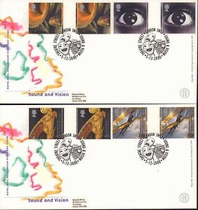 (91346) CLEARANCE GB FDC x2 Gutter Pair Sound and Vision London SW11 5 Dec 2000