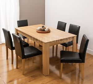 Image Is Loading Dining Table With 4 6 Faux Leather Chairs