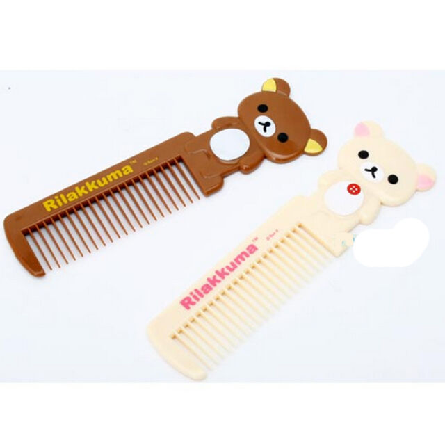 Rilakkuma Portable Hair Comb Styling Brush Hand Bear Pocket Lady Girls Cute