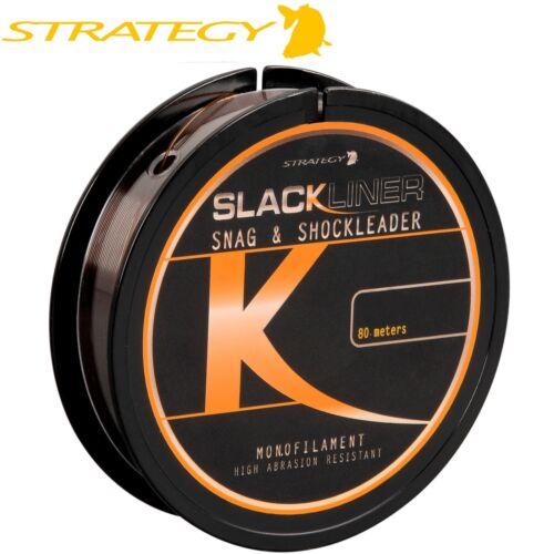 Strategy Slackliner Snag /& Shock Leader Schlagschnur 80m 0,10€//1m