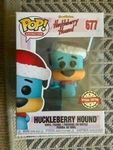 RARE-SANTA-HAT-HUCKLEBERRY-HOUND-677-Funko-Pop-Vinyl-New-in-Mint-Box-Protector