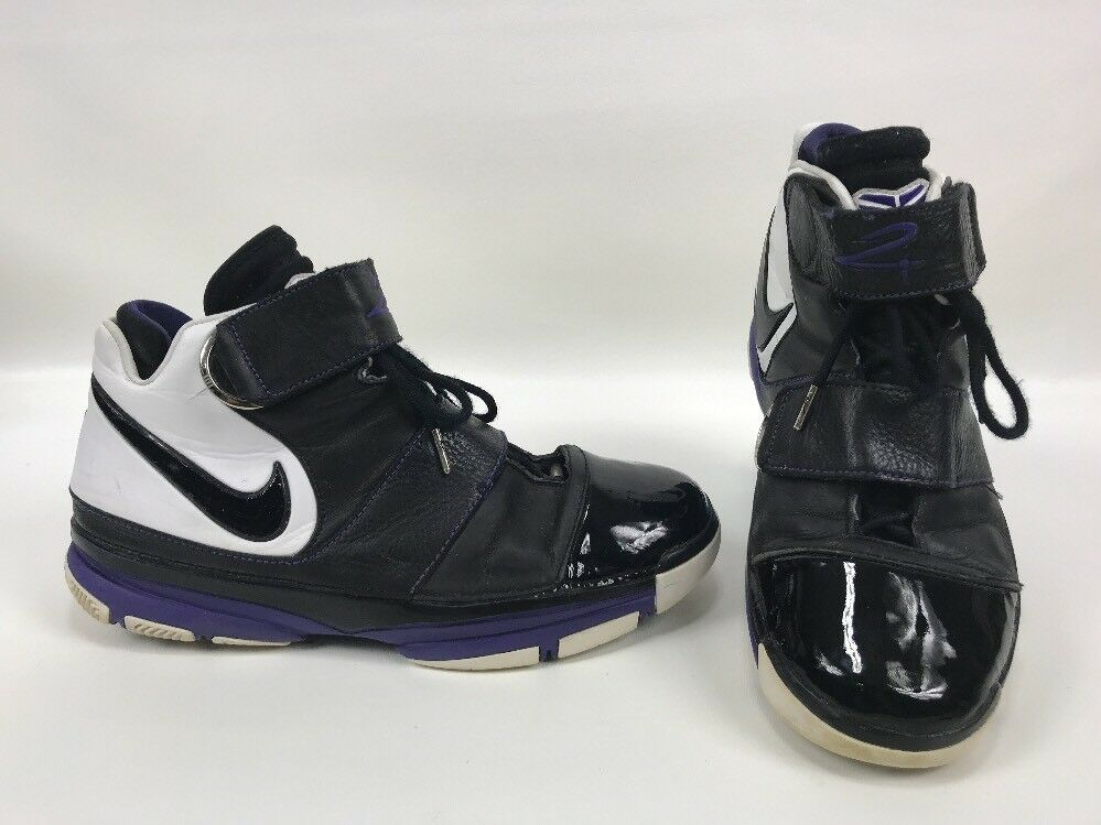2007 Nike Zoom KOBE ORCA II 2 ST STRENGTH ORCA KOBE BLACK WHITE PURPLE 316835-001 Mens 14 808763