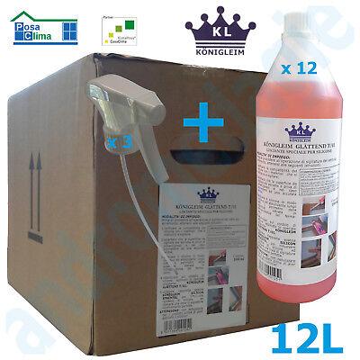 Metodico Glattend T/01 Lisciante Sigillanti 1lt 12 Pz Konigleim Compresi 3 Nebulizzatori