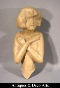 Bust of woman/doll's body in manila paper