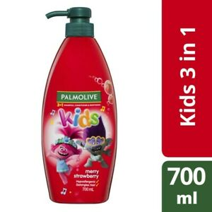 Palmolive Kids 3 in 1 Merry Strawberry Shampoo Conditioner & Bodywash 700mL